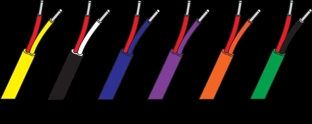 Farbkennzeichnung Typ K Thermoleitungen Ausgleichsleitungen ANSI MC96.1